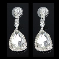 Big diamond Best seller bling long hanging earring with crystals J064724F00