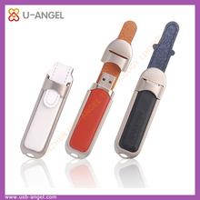 Custom 2gb leather usb flash drives, label usb flash drive