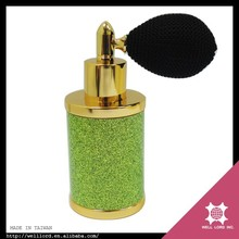 30 ML green glitter middle east bulb atomizer