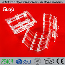 clear glass bottom boats for sale for heating silicon disc