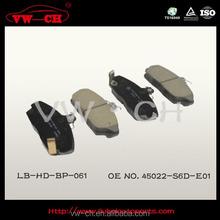 Top quality auto disc brake pad 45022-S6D-E01
