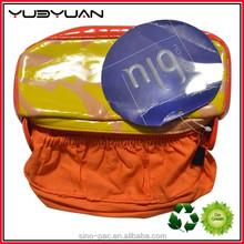 2015 Wholesale canvas eco friendly material orange color necessarie korean european style fashion cosmetic bag