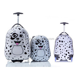 Lovely Dalmatian Hard Plastic Kids Trolley Luggage Case, Animal Design Kids Luggage Sets For Travel
