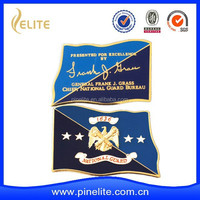 Customized gold army coin with 3D eagle