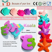 Teething Nurse Necklace Pendant/BPA Free Silicone Natural Rubber Teether