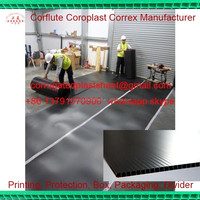 pp corrugated plastic sheet for floor covering