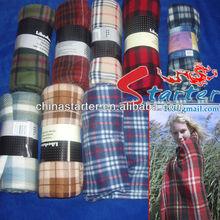 Scottish printed plaid winter warm fleece blanket