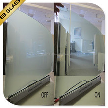 transparent switchable pdlc glass,Opaque treatment pdlc material dimmable glass EB GLASS BRAND
