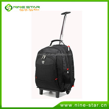 Wholesale eco-friendly large trolley travel bag with wheels 2015