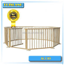 Natural wooden baby playpen/baby play yard,lightweight baby fence