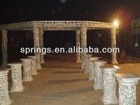FRP fountain white fiber wedding mandap decoration