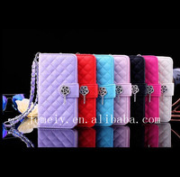 Luxury Mobile Phone Flip Style Leather Case For iPhone5 Case Cover With Chain For iPhone 5S