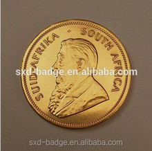 Hot sale 1 oz fake gold coins/krugerrand gold coin/plated gold coin