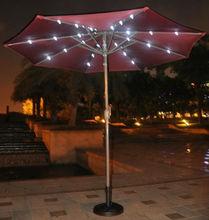 Deluxe solar patio umbrellas with light
