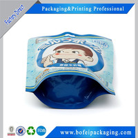 Custom printed aluminum foil whey protein powder packaging