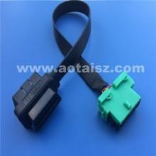 Professional s06 J1962 16pin obd ii extension cable diagnostic machine for cars citroen peugeot