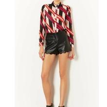 Stripe tshirt long sleeve 2015 office uniform designs for women blouses lady blouse