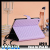 Hot and popular fashion quilted design pu leather skin cover for ipad air