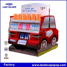 Paper trolley display like a car for travelling and journey