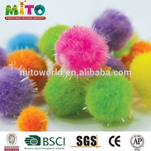 assorted factory supply decoration acrylic pompoms