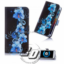 Fashionable Popular Painting Beautiful Pattern Design Book Style Flip Cover Case For Wiko Rainbow fast delivery