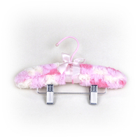 Satin Padded baby Hangers with Metal Bar and Clips
