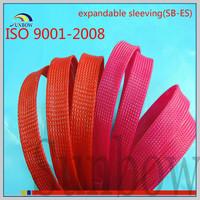 with ISO 9001:2008 standard antiwear heat retardant flexible expand polyester woven mesh tube