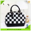 New arrived black white gird professional factory custom shoulder bag for lady