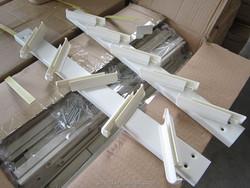 5 blades aluminium louver window frames