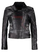 soft thin women leather jacket,leather jacket for women