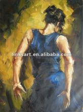 high quality handmade dancing woman oil painting