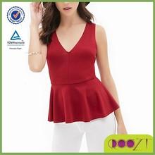 new design pattern women sleeveless blouses designs for ladies