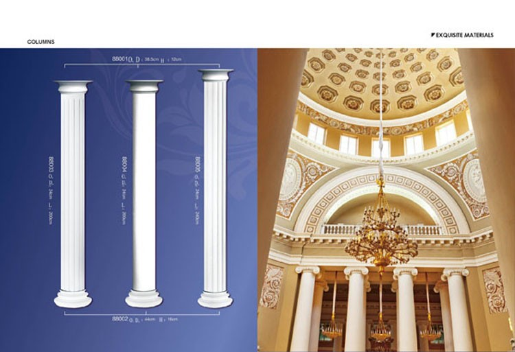 D coratif pu mousse colonnes pour maison d coration d 39 int rieur - Colonne exterieure pour maison ...
