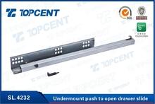 kitchen cabinet push to open drawer slide runner