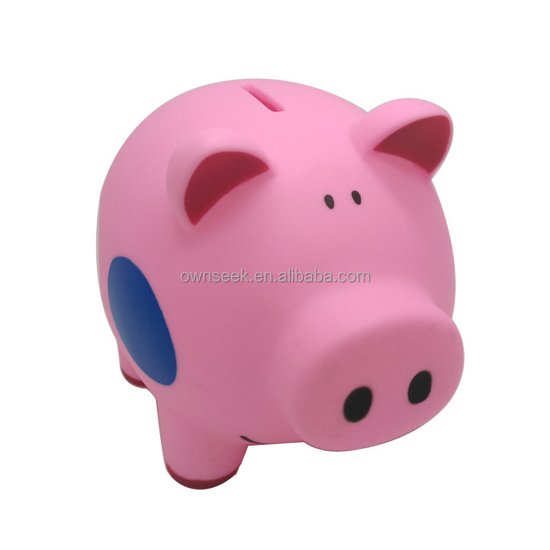 2015 whole sale personalized plastic piggy bank kids Plastic piggy banks for kids