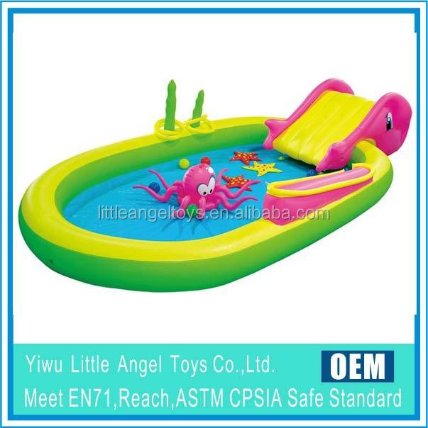 Transparent bleu pvc gonflable famille adulte g ant jumbo for Aspirateur piscine hors sol geant casino