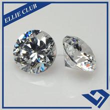 White round cut cubic zircon in loose rough diamonds price