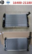 2015 hot selling aluminum brazed welding cheap car radiators used for toyota corolla-04 zze122