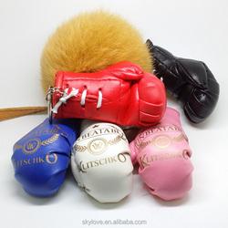 Soft pvc keychain mini boxing gloves key chain