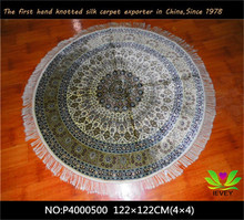 2015 hot sale modern design 400L hand knotted natural handmade indian silk rugs for sale