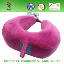 alibaba china supplier no inflatable travel pillow with pouch high quality