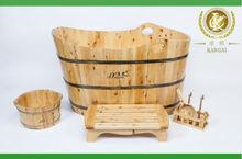 Indoor wooden mini bathtub custom size portable hot tub