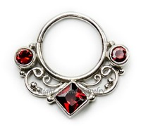 Vintage Fake Septum Nose Ring Body Jewelry Tribal Septum Jewelry