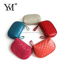 2015 Fashion PVC leather beautiful cosmetic bag small luxury makeup bag