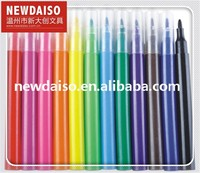 Washable 12 color felt tip color marker from China manufacturer