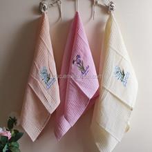 2015 new cotton lavender embroider kitchen tea towels