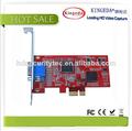 Cuádruple SD 960H Streaming Media Audio Video Capture Card, tv dvd vhs adaptador AV Audio video mmm captura tarjeta