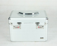 High quality aluminum multi-functional cosmetic case, pink style jewelry code case, boutique storage case