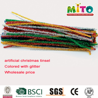 30CM*4MM Long Straight Mixed Colored Decorative Glitter Stems