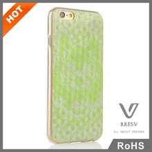 Popular 3D printed pattern transparant custom PC phone case for iphone 6 china new arrive phone case wholesale